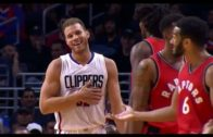 Blake Griffin throws his shoe at Cory Joseph