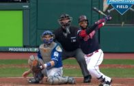 Carlos Santana belts home run for the Indians in Game 2