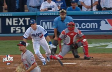 Chase Utley drives in game winning RBI single for the Dodgers