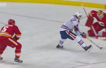 Connor McDavid scores breakaway goal on the Flames