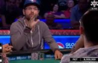 Very intense poker stand off during the World Series of Poker