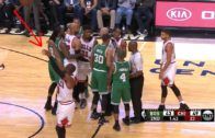 Dwyane Wade casually shoots jumpers during Bulls & Celtics scuffle