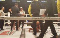 Simon Marcus vicious kicks in Kick Boxing training