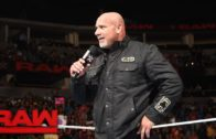 Goldberg returns to send a message to Brock Lesnar