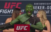 Ion Cutelaba paints himself as the Hulk for UFC weigh-in