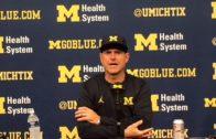 Jim Harbaugh speaks on Jourdan Lewis' incredible interception