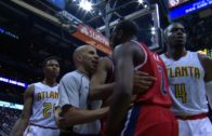 John Wall nearly starts fight after being knocked down by Kent Bazemore
