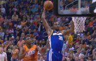 Kevin Durant throws down a thunderous slam on the Suns