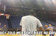 Kevin Durant yells at imaginary critics while shooting alone