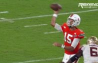 Miami's Brad Kaaya gets his tooth knocked out on viscous hit