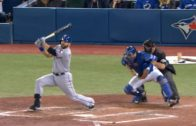 Mitch Moreland plates two with a clutch double passed Kevin Pillar