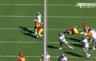 USC's Adoree Jackson does the splits in order to make interception