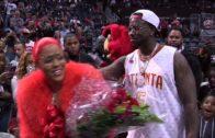 Atlanta rapper Gucci Mane proposes to his girlfriend at the Atlanta Hawks game