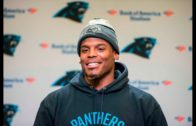 """Cam Newton sings Michael Jackson's """"Thriller"""" in his press conference"""