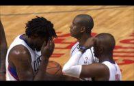 Chris Paul & DeAndre Jordan bang heads after a play