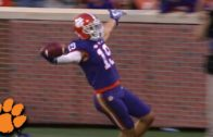 Clemson returns an interception tipped 4 times for a touchdown