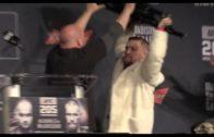 Conor McGregor almost throws chair at Eddie Alvarez in UFC 205 press conference
