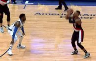 Damian Lillard hits two 3 balls from almost half court