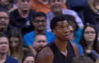Hassan Whiteside throws down vicious reverse slam on the Raptors
