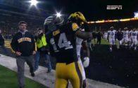 Iowa stuns Michigan with a last field goal to win 14-13