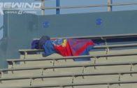 Kansas Jayhawks fan gets caught sleeping in the stands