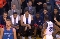 Kevin Durant & Enes Kanter have a heated exchange of words