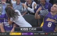 Kiss Cam goes wrong for Los Angeles Lakers fan