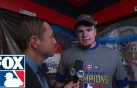 Kyle Schwarber speaks on the Cubs World Series win