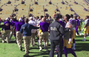 LSU & Florida get into pre-game scuffle at Tiger Stadium