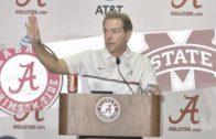 Nick Saban speaks on Alabama's crushing defeat of Mississippi State