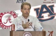 Nick Saban speaks on Alabama's Iron Bowl win over Auburn