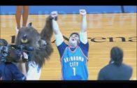 Oklahoma City Thunder fan hits half court shot for $20,000