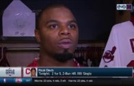 Rajai Davis speaks on the Indians overcoming the odds