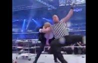 Stone Cold Steve Austin stunners Donald Trump at Wrestle Mania
