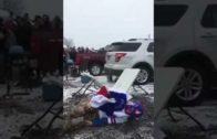 Bills fan gruesomely breaks his leg jumping onto a table (Warning: Graphic)