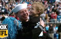 Carolina Panthers reunite military father & son on Christmas Eve