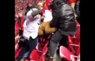 Chiefs fans & Raiders fans break out into massive brawl