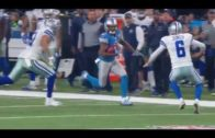 Cowboys punter Chris Jones lays out & tackles return man