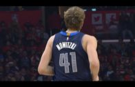 Dirk Nowitzki scores 17 points in his return to action