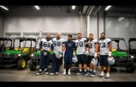 Ezekiel Elliott hooks up his offensive line with John Deere UTV's for Christmas