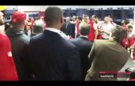 Kansas City Chiefs post game locker celebration after victory over the Falcons