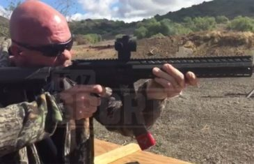 Stone Cold Steve Austin shoots at tactical gun range