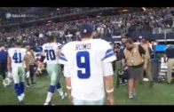 Cowboys QB Tony Romo walks off the field for perhaps the last time
