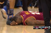 Draymond Green knocks over LeBron James & mocks him for flopping