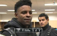 """Michael Crabtree says it was a """"business decision"""" not to knock out Aqib Talib"""