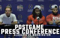 Nick Saban, Bo Scarbrough, & Ryan Anderson speak on Alabama's win over Washington