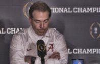 Nick Saban speaks on Alabama's loss to Clemson (Full Press Conference)