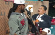 Jonathan Babineaux gets interviewed by Guillermo Rodriguez (FV Exclusive)