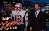 Matt Damon appears as Tom Brady on the Jimmy Kimmel show