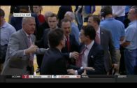 Rick Pitino gets into a heated altercation with a North Carolina fan